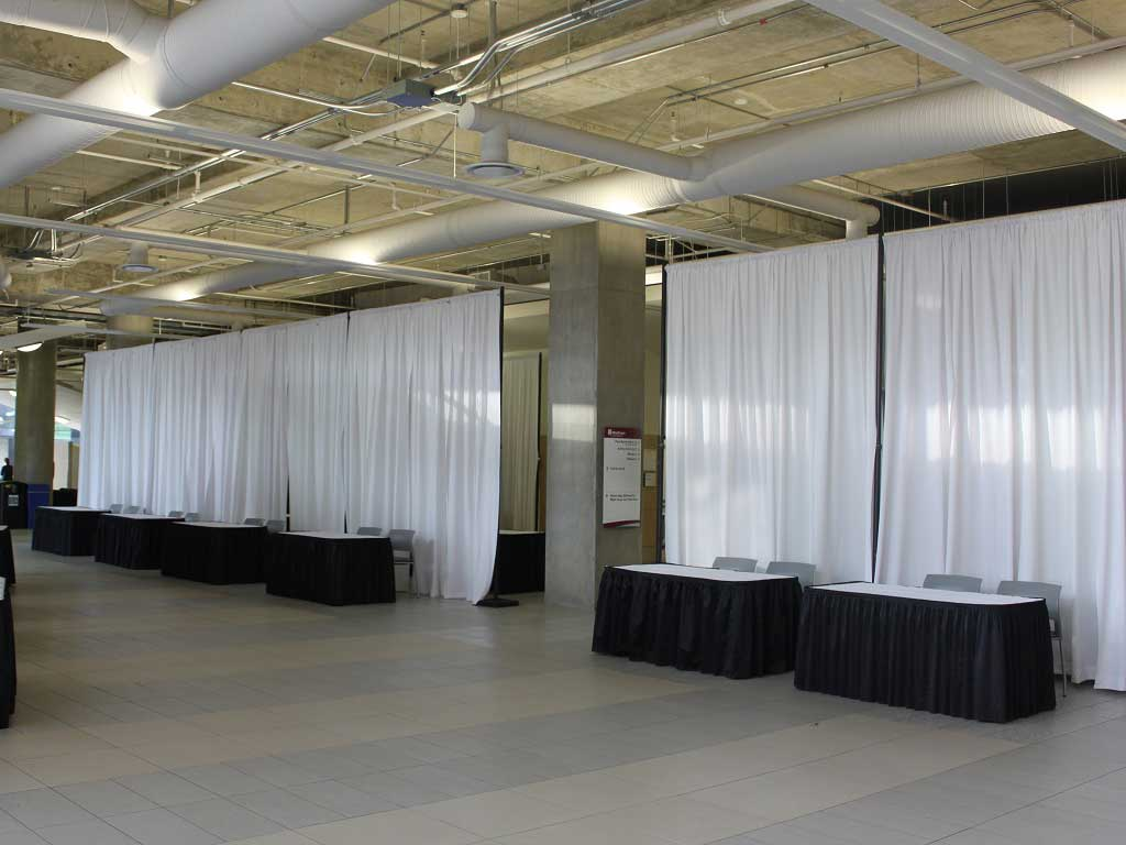 Display equipment & draping rentals in Edmonton Alberta