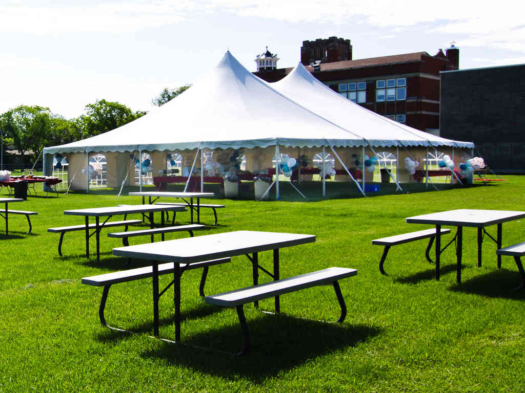 Commercial tents may be put to use in a wide scope of application.