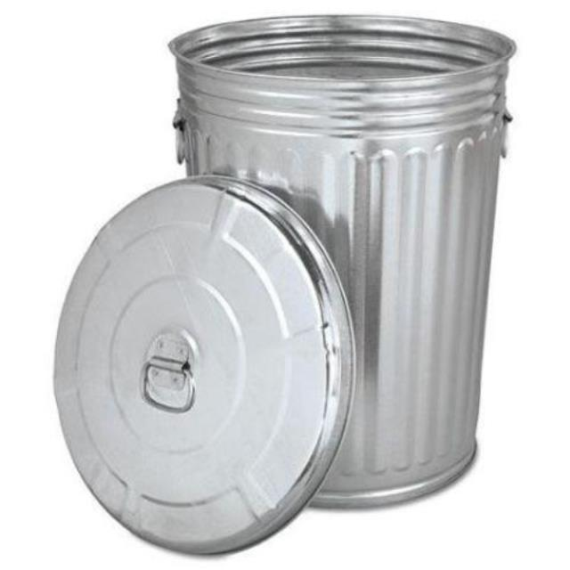 Where to find GARBAGE CAN 75L METAL W LID  PROP in Edmonton