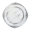 Rental store for CHARGER PLATE ANTIQUE WHITE 13  ACRYLIC in Edmonton AB
