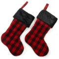 Rental store for PLAID STOCKING BLACK RED 21 X12 in Edmonton AB