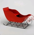 Rental store for 14 X25 LX10 W RED METAL SLEIGH in Edmonton AB