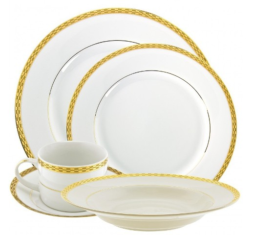 Rent Athens Gold Rimmed Dinnerware