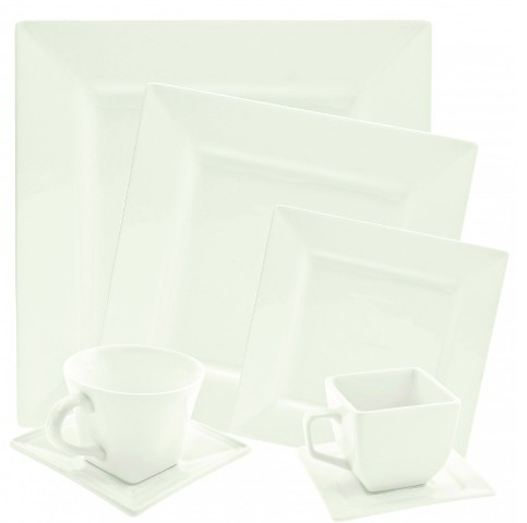 Rent Uptown Square White Dinnerware
